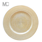 Wholesale Cheap Underplate Catering and Wedding Gold Thread Glass Charger Plates