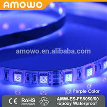 purple color led strip light 5050 smd 72W 60LEDs/M IP65 Epoxy waterproof DC24V DC12V