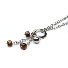Promotional tigereye chain necklace with reasonable price