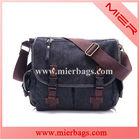 Vintage Men's Canvas Leather Shoulder Messenger Bag Tool School Bag