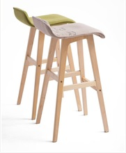 Modern bent wooden dining chair and canvas chairs wood