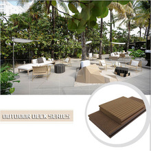 Low price wpc appearance deck flooring, easy install outdoor decking,waterproof and anti cracking wooden floor tile