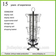 Rotating display stand of metal christmas card holder stand/business card display rack