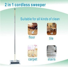 2 in 1 Electric cordless rotary floor sweeper/ ABS Aluminum stick electric broom