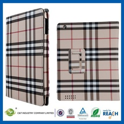 C&T New arrival grid pattern mobile phone case for ipad air 2