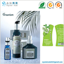 Private label cosmetics self adhesive cosmetics label