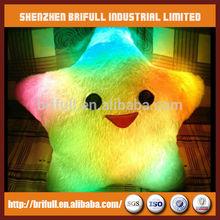 nonradiative lucky star shape led pillows cushions for night lighting