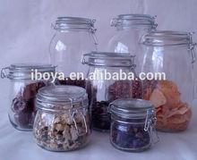 food clip top glass storage jar
