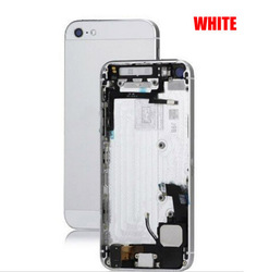 Paypal! For APPLE IPhone 5 5G back housing backcover battery cover with all small parts assembly replacement spare parts