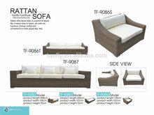 Round di vimini tf-9087 da giardinoin rattan di lusso tre- Sedile divano