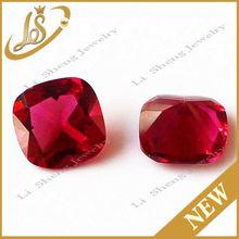 low price loose gems good quality square red glass diamond
