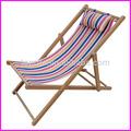 Silla de playa/silla de cubierta/de fábrica al por mayor baratos reclinable playa de madera plegable silla de cubierta