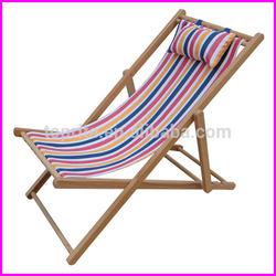 Beach Chair/Deck Chair/Factory Wholesale Cheap Reclining Beach Wooden Folding Deck Chair