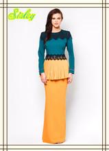 Lastest Elegant Dress Abaya Fashion Lace Beading Baju Kurung Muslimah Dress