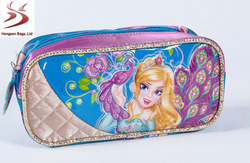 peacock trolley bag triangle bag pencil case 3set bag
