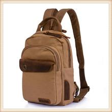 Practical durable trendy mens shoulder bag leisure canvas backpack laptop