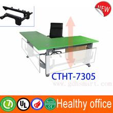L feet height adjustable executive desk Cambridge manual height adjustable desk