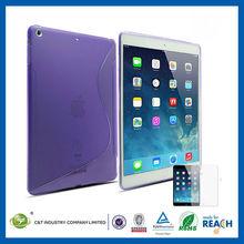 C&T Ultra thin flexible s shap tpu case for ipad air 2