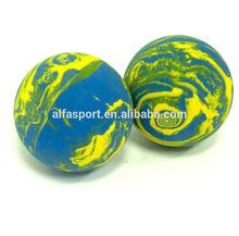 2015 Promotional 60mm Rubber Rainbow hallow bouncing ball (street ball)