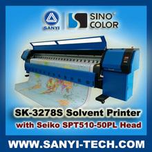 Large Format Tarpaulin Printer Machine, SinoColor SK-3278S, with Seiko SPT510/50 PL Head