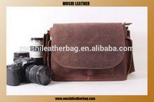 Unisex 2014 Popular Vintage Retro Look Genuine Leather professional camera bag