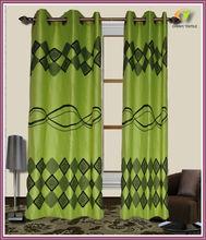Grommet flocking window curtain