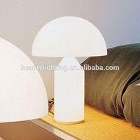 White Glass mushroom table lamp,G9*3 bulbs,battery operated led table lamp