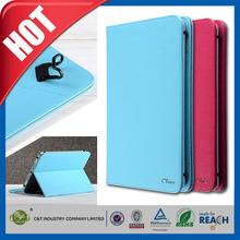 C&T Ctunes design pure color luxury wallet for ipad air 2 leather case