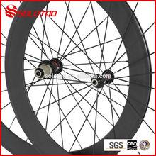 Roue de vélo de carbone 60mm t700 stickersductilité mat. 3k tisser. utilisé pneu roues carbone
