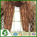 china fábrica de cortinas de suministro de la hoja de diseño jacquard cortinas cenefa