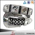en la caída de la nueva versión de la pu negro material de la parte superior de la boda de diamante de imitación de la correa