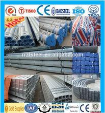 outdoor construction galvanized steel pipe /circular cross-section galvanized steelpipe