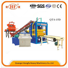 The Largest Factory of QT4-15D Full Automatic Hydraulic and PLC Control Concrete Block Making Machine Hot sale in Many Countries