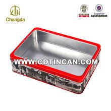 cookie tin box/sweety rectangular tin cans /4c printing metal tin packaging CD-050