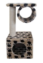 European cat rest/sleep/ play Eco-friendly cat scratching post Leopard Pet cat house cage