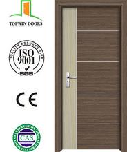 Surface finished swing open style PVC wooden door interior door Zhejiang supplier