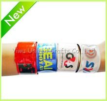 2014 cheap custom silicone slap bracelet for sports gift