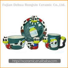Factory Direct Sales Ceramic Cartoon easter dinnerware set