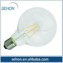 dimmable G95 480lm e27 edison led filament bulb led light tuning light alibaba stock price