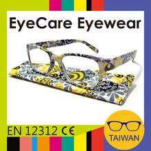 New design stylish spectacles plastic frame spring hinge reading glasses