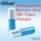 Brinyte 3.7V 3000mAh18650 rechargeable lithium ion battery