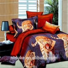 Tiger Print Bedding Set Adult Cartoon Comforter Set