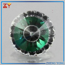 10mm fashion design beads cz and glass mixture