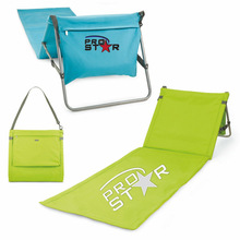 3 in 1 foldable beach mat with carry strap ,Beach Lounge chair with logo,Beachcomber Adjustable Beach Mat