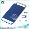 wholesale mobile phone colorful back housing for iphone 5s with side key and glass