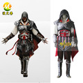 Assassins Creed III Ezio Auditore da Firenze Black Edition Cosplay dos homens halloween roupas