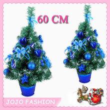 60cm height purple PVC gift mini christmas tree with hinging decoration