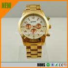Fashion watches, unisex, six stitches, rose gold quartz watch