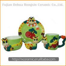 Factory Direct Sales Ceramic Cartoon kids porcelain dinnerware