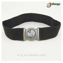 venta al por mayor de lujo cinturones de ancho de cristal de diamante de imitación de metal para cinturones de vestir
